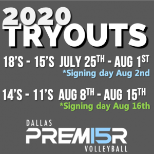 2020 Tryout Info