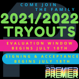 2021-2022 Season Tryouts